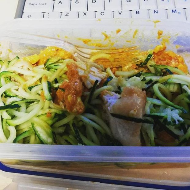 Lunch - cashew chicken and courgetti